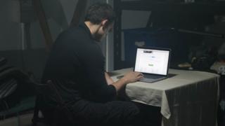 Stalker on computer