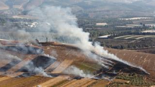 إسرائيل أطلقت قنابل الدخان على بلدة مارون الراس في جنوب لبنان