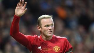 Wayne Rooney, lors d'un match contre Everton le 3 août 2016 à Manchester