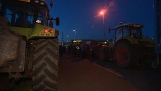 Tractor blockade at Morrisons