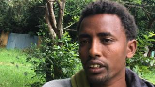 Ethiopian engineering graduate who cleans shoes for a living