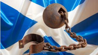 Shackles and saltire