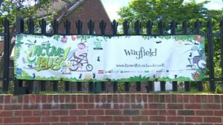 Wayfield Primary School sign
