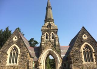 Restored chapel at Wrexham Cemetery