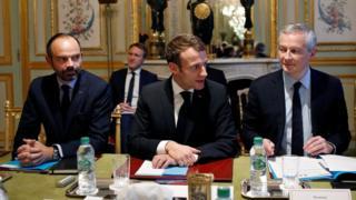 ماكرون في لقاء مع مدراء القطاع المصرفي في فرنسا الثلاثاء