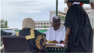 Buhari, Osinbajo take 'Next Level' oath