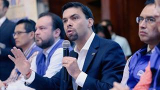 Juan Pablo Bozo en conferencia de prensa