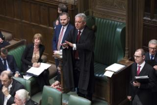 Speaker John Bercow gives directions