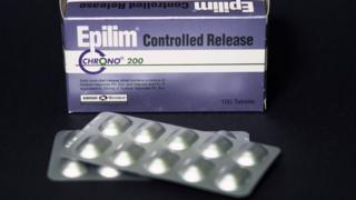 A box of Epilim, or sodium valproate, pills