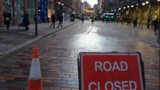 Gordon Street closed