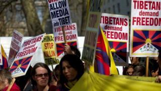 स्वतन्त्र तिब्बतको माग गर्दै