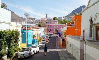 View down a Bo-Kaap street