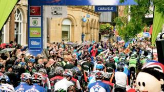 Tour of Britain in Carlisle in 2015