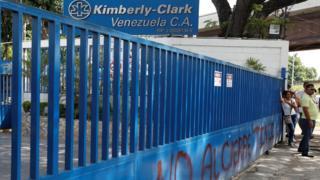 Planta de Kimberly-Clark en Venezuela.
