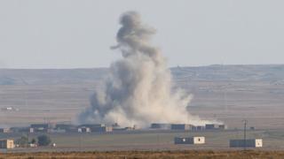 Американський авіаудар в Сирії