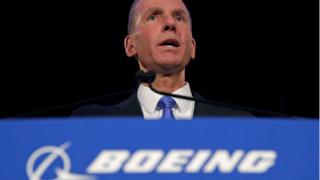 Boeing chairman and chief executive Dennis Muilenburg
