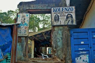 A barber shop in Freetown