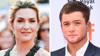 Kate Winslet and Taron Egerton
