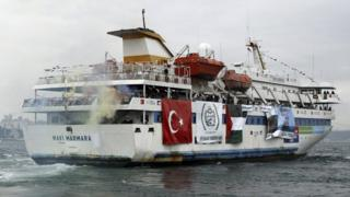 The Turkish ship Mavi Marmara pictured 2010