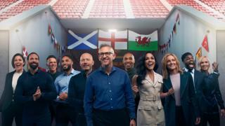 BBC Euros punditry team.