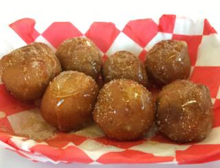 Deep-fried butter balls drenched in syrup