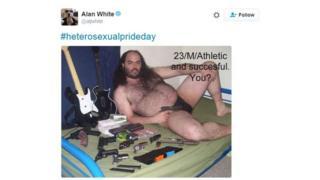 Heterosexual man tweet