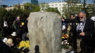 Commémoration en Pologne, en avril dernier, du 75ème anniversaire du soulèvement du ghetto de Varsovie.