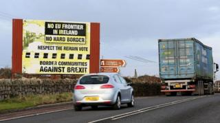 Billboard on the County Armagh border, between Newry and Dundalk
