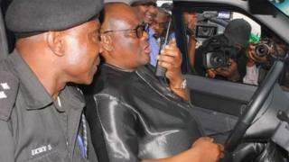 Rivers state Govnor Nyesom Wike and di state Commissioner of Police