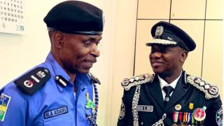 New Police Acting Inspector General Abubakar Adamu dey resume work as e take over from former IGP Ibrahim Idris