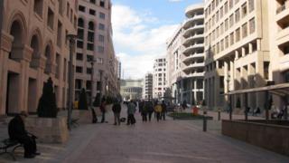 Yerevanın mərkəzindəki Şimal prospekti