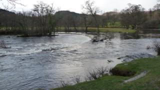 Horseshoe Falls on River Dee, Llangollen