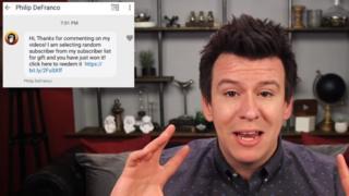 Screen grab of video warning