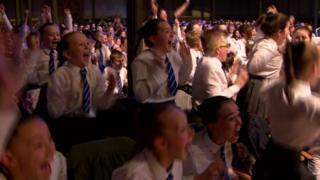 Ebrington Primary School choir celebrate