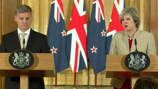 Bill English and Theresa May