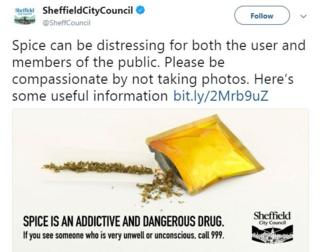 Sheffield Council Spice Twitter campaign