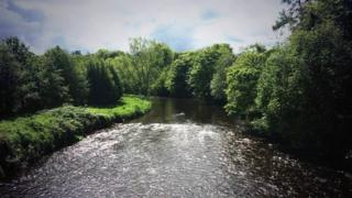 The River Faughan is a popular fishing spot
