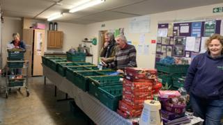 Volunteers at Bedford Foodbank