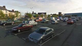 St Thomas Green car park in Haverfordwest