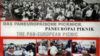 Poster conmemorativo del Picnic Paneuropeo