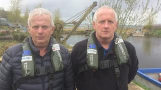 John James Quinn and his brother Michael rescued the men from Lough Neagh on Monday