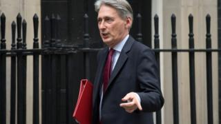 Chancellor of the Exchequer, Philip Hammond on downing st