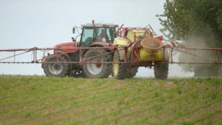 Crop-spraying in Germany, 19 May 16