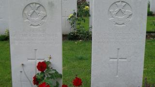 Gravestones of unknown members of the Royal Guernsey Light Infantry
