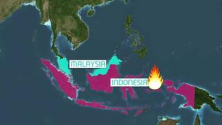 BBC map of Indonesia