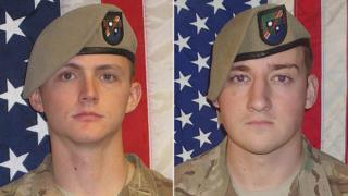 Sgt Joshua Rodgers (L) and Sgt Cameron Thomas were killed in Nangarhar Province, Afghanistan