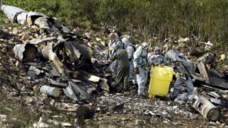 حطام الطائرة الإسرائيلية