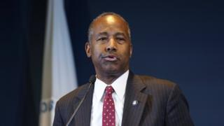 Us Secretary of Housing and Urban Development Ben Carson