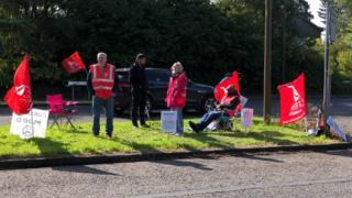 NHS Tayside pharmacy support workers begin strike action