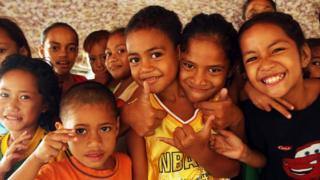 science Children in Samoa